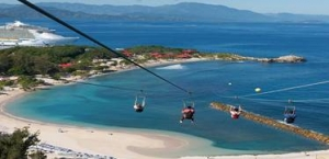 The Zipline experience at Labadee , Haiti